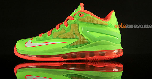 Nike LeBron 11 Low GS Volt Bright Orange