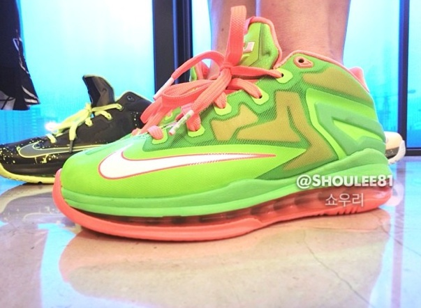 e03407863b4b Nike LeBron XI (11) Low GS  Volt Bright Orange  - On-Foot Images ...