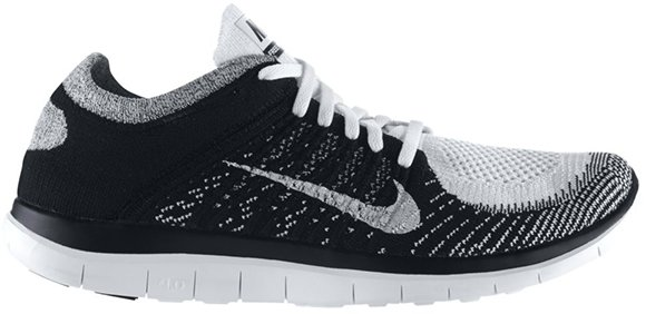 Nike Free Flyknit Black And White