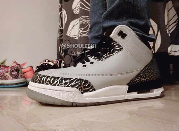Air Jordan 3 Wolf Grey - On Foot