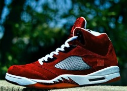 "Air Jordan V (5) ""Harvard University"" Customs by Kickstradomis"
