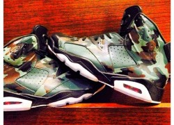"Air Jordan VI (6) ""Camo"" Customs by DeJesus Customs and The Sole Revival"