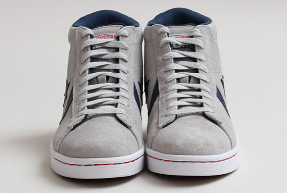 Oyster Grey Converse Pro Leather Skate