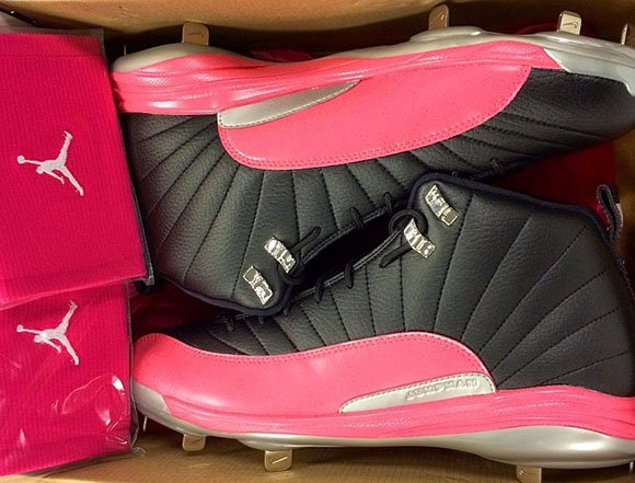 Gio Gonzalez Shows Air Jordan 12 Mothers Day Cleats