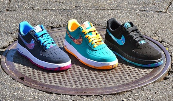 nike air force 1 basso turbo nera verde