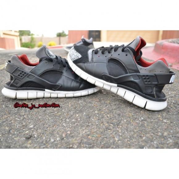 nike-air-huarache-black-cement-customs-by-retro-js-restoration-2