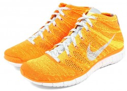 Nike Free Flyknit Chukka 'Total Orange/Light Base Grey-Volt '