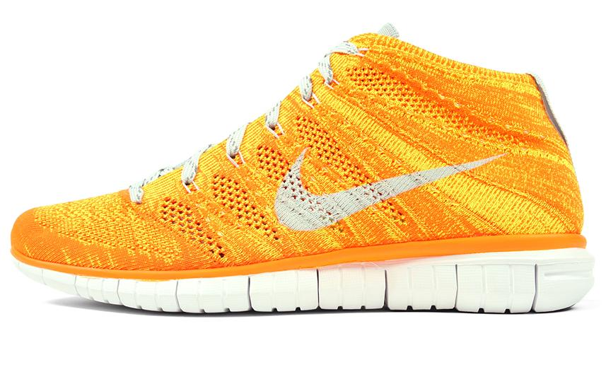 Nike Free Flyknit Chukka Total Orange Volt