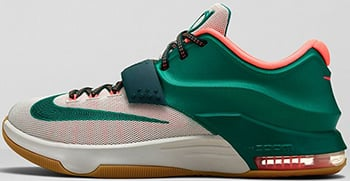 Nike KD 7 Easy Money Mystic Green Light Brown
