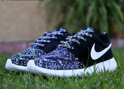 "Nike Roshe Run ""Spring Paisley"" Customs by Kickstradomis"