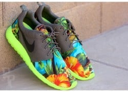 "Nike Roshe Run ""Tropical Volt"" Customs by Profound Product"