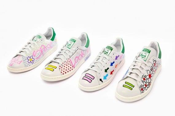 new arrival 5e8aa 211d7 Pharrell Williams x adidas Originals Stan Smith Customs at ...