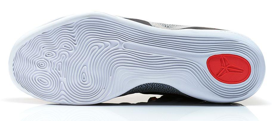 uk availability 59119 41e00 Release Reminder: Nike Kobe 9 EM 'Black/White-Laser Crimson-Wolf Grey'