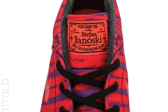 Tiger Nike Stefan Janoski Mid Laser Crimson/Purple Venom