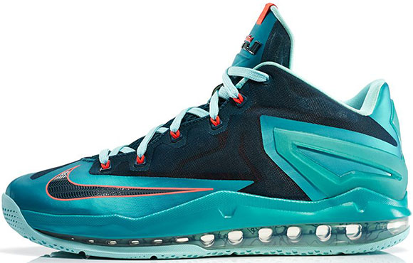 Turbo Green Nike LeBron 11 Low Official Look