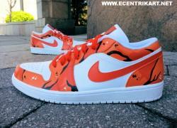 """Air Jordan 1 Low """"Orange Soda"""" Customs by Ecentrik Artistry"""