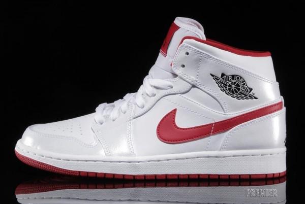 air jordan 1 mid whiteblackgym red sneakerfiles