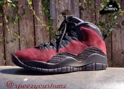 "Air Jordan 10 ""Merlot"" Customs by Speezy Customs"