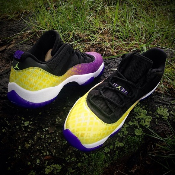 air-jordan-11-low-lakers-snakeskin-customs-by-cali-kid-drew
