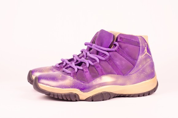 brand new 4f5ca 2cfc4 air-jordan-11-purple-freestyle-customs-by-dmc-