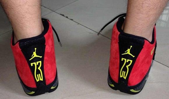 Air Jordan 14 Ferrari - On Foot  fa0b029ae