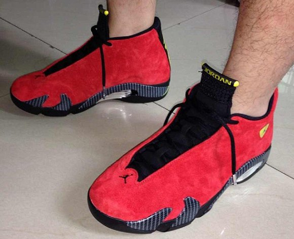 Air Jordan 14 Ferrari - On Foot