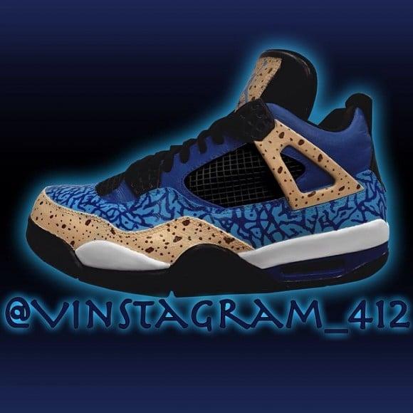 TAGS Air Jordan 4 Cookie Monster Custom Air Jordan 4 Vincent Candelore