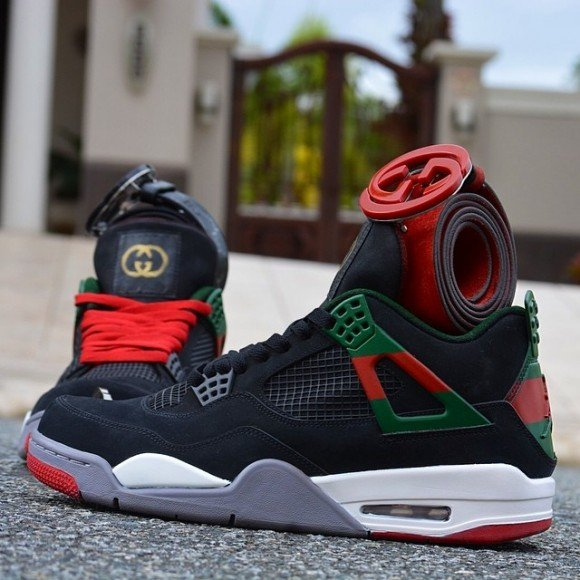 the latest 36a87 b6ef1 air-jordan-4-gucci-customs-by-customs-from-