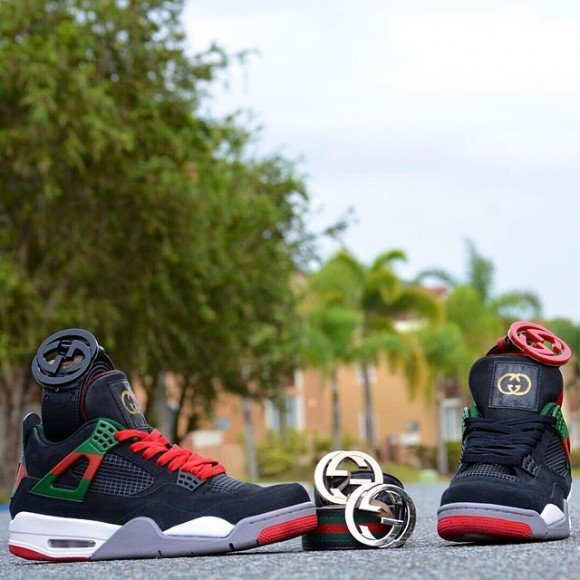 Air Jordan 4 Gucci Customs By From