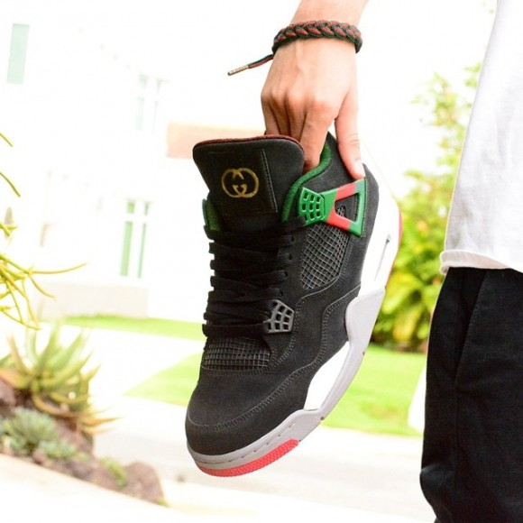 gucci 4s. air-jordan-4-gucci-customs-by-customs-from- gucci 4s sneaker files