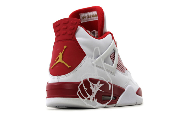Air Jordan 4 Melo PE White Red PE 2012