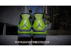 "Air Jordan 4 ""Neon"" Customs by 101 Custom Kicks"