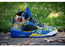 "Air Jordan 5 ""Abstract Chicago"" Customs by DeJesus Customs"