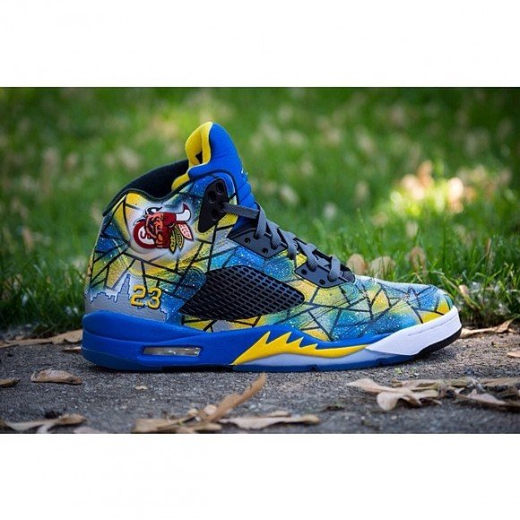 new product 035cc 64dc0 Air Jordan 5 Abstract Chicago Customs by DeJesus Customs durable service