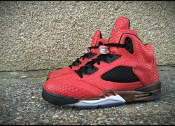 "Air Jordan 5 ""Toro Bull Snake"" Customs by JBF Customs x Mache Customs"