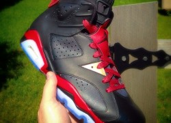"Air Jordan 6 ""Black Widow"" Customs by Astrotorf Customs"