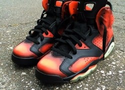 "Air Jordan 6 ""Darth Maul"" Customs by Cali Kid Drew"