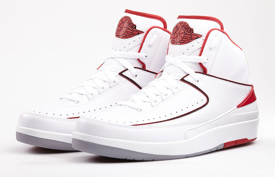 brand new a1b6c 68001 80%OFF Air Jordan II 2 White Varsity Red Black Official Images
