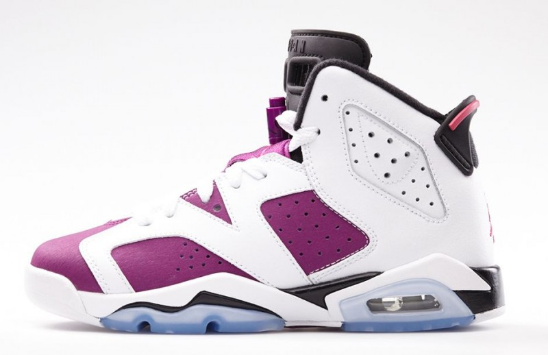 check out 0ed2a c54c4 Air Jordan VI (6) GS 'White/Vivid Pink-Bright Grape-Black ...