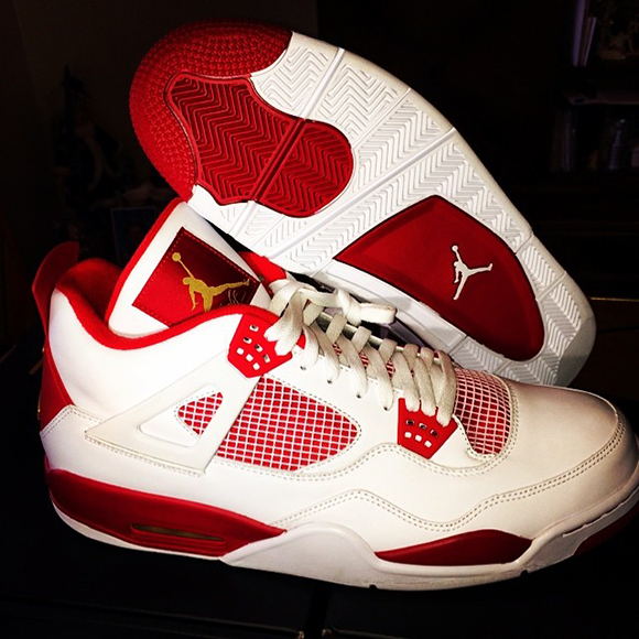 Carmelo Anthony Air Jordan 4 White/Red PE