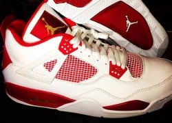 Carmelo Anthony Air Jordan 4 White/Red PE