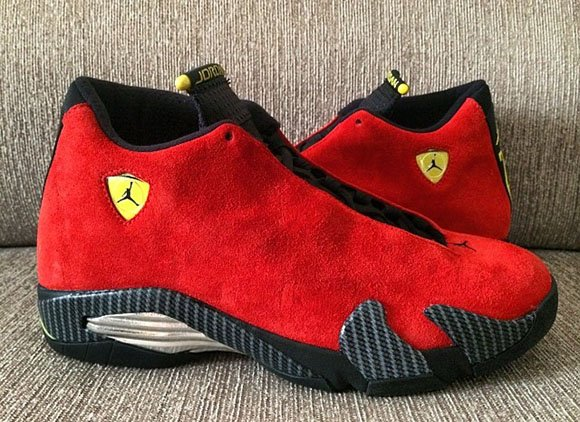 separation shoes 7094b 94161 Ferrari Air Jordan 14 - New Pictures | SneakerFiles