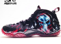 "Nike Air Foamposite One ""Punisher"" Customs by Smooth Tip Productions"