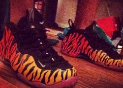 "Nike Air Foamposite ""Tiger Fade"" Customs by Paco Customs"