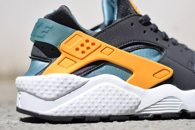competitive price 7b492 dcab3 nike-air-huarache-dark-grey-teal-orange-sample-