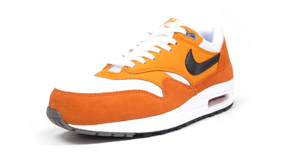 nike air max 1 essential white orange black