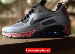 Nike Air Max 90 'Air Mag -Negative' Customs by Customs By Hersh