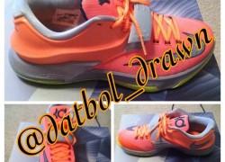 Nike KD VII (7) 'Bright Crimson'