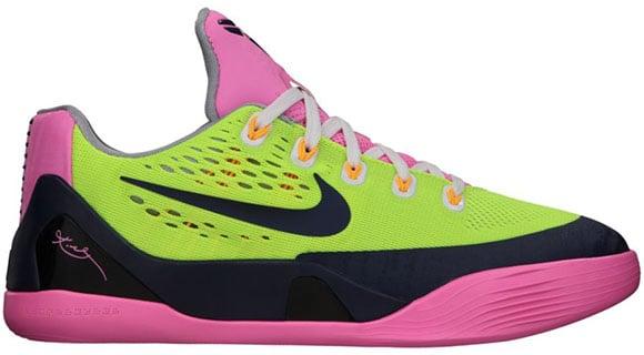 Nike Kobe 9 EM GS Volt/Midnight Navy-Pink Glow-Wolf Grey