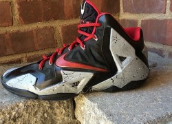 "Nike LeBron 11 ""Cement"" Customs by Sneaker Smart Customs"
